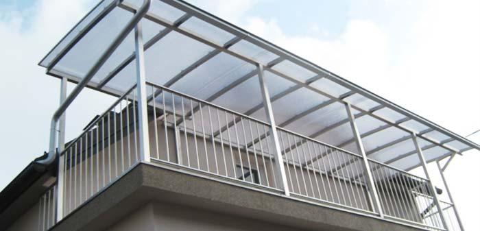 Inox nadstrešek za balkon