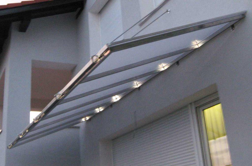 Inox nadstrešek z razsvetljavo