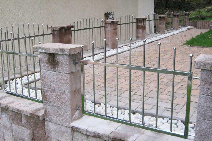 Zunanja inox ograja dvoriščna