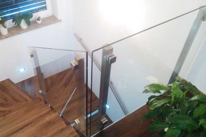 Steklena inox ograja